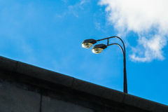 Two street lamps blue sky Royalty Free Stock Photos
