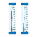 Two street mercury thermometer. Stock Image