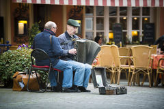 Two street musicians Royalty Free Stock Photo