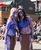 Two Street Parade Performers Royalty Free Stock Photo