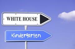 White house kindergarten Stock Photography