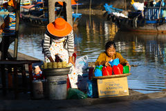 Two street vendors Royalty Free Stock Image