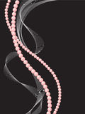Two strings of pearls stock illustration