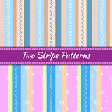 Two stripe patterns royalty free stock images