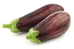 Two striped aubergines Stock Image