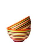 Two striped bowls Stock Photo