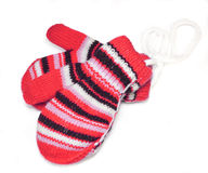 Two striped mittens Royalty Free Stock Images