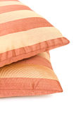 Two striped pillow Stock Photography
