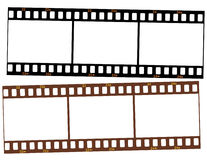 Two strips of 35mm transparency film Stock Images