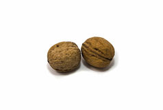 Two strong walnuts Royalty Free Stock Images