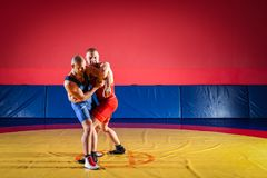 The concept of fair wrestling royalty free stock photography