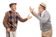 Two stubborn mature men arguing Royalty Free Stock Image