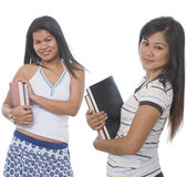 Two Student with books Royalty Free Stock Photo