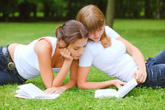 Two student girls Royalty Free Stock Images