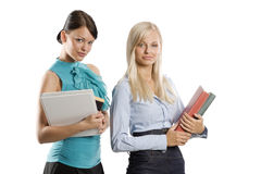 Two student girls Stock Image
