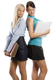 Two student girls Stock Photography
