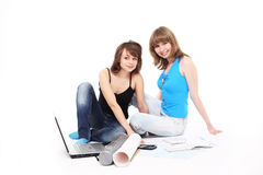 Two students Royalty Free Stock Photo