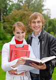 Two students Stock Images