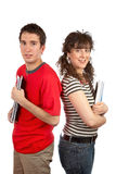 Two students with books Stock Photography