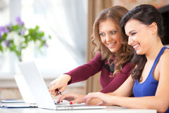 Two students in class Royalty Free Stock Photo