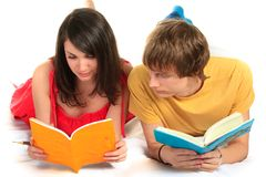 Two students. Closeup. Royalty Free Stock Images