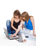 Two students prepare for employment Stock Photo