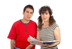 Two students reading Royalty Free Stock Photos