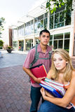 Two Students at School Stock Photo
