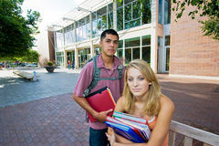 Two Students at School Stock Image