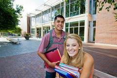 Two Students at School Royalty Free Stock Photo