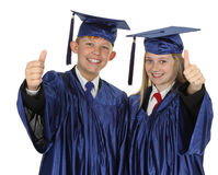 Two Students Showing Thumb Up Sign Royalty Free Stock Image