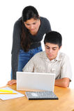 Two Students Studying Together Stock Image