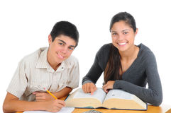 Two Students Studying Together Stock Photos
