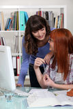 Two students studying together Stock Photography