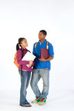 Two Students - Vertical Stock Photography