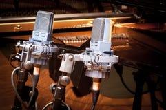 Two studio microphone Stock Photo