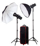 Two studio strobe with bag royalty free stock photography