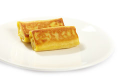 Two stuffed pancakes Royalty Free Stock Photography