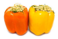Two stuffed peppers Royalty Free Stock Photos