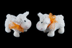 Two Stuffed  Sheep Toys Royalty Free Stock Photography