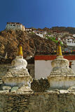 Two Stupa at Karsha Gompa Stock Photos