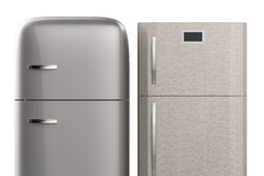 Two style refrigerators Royalty Free Stock Photo
