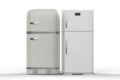 Two style refrigerators Stock Photography