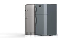 Two style refrigerators Stock Photo