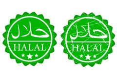 Two style star rounded sign halal not allowed to eat and drink for islam. Vector sketch of two style star rounded sign halal not allowed to eat and drink for vector illustration