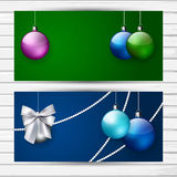Two stylish Christmas banners Royalty Free Stock Image