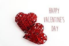 Two stylish heart  isolated on white background, happy valentine Stock Photography