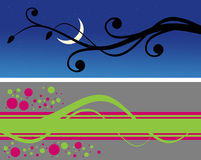 Two stylish horizontal backgrounds. Abstraction Stock Photos