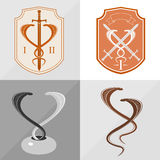 Two stylized cobra Royalty Free Stock Photos
