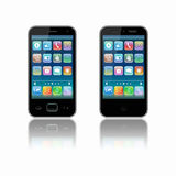 Two stylized mobile phone Stock Images